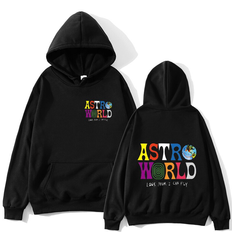 ASTROWORLD look mom i can fly hoodie Travis Scott Astroworld hoodie 2019 Gift Print Men's Hip Hop Pullover Sweatshirt