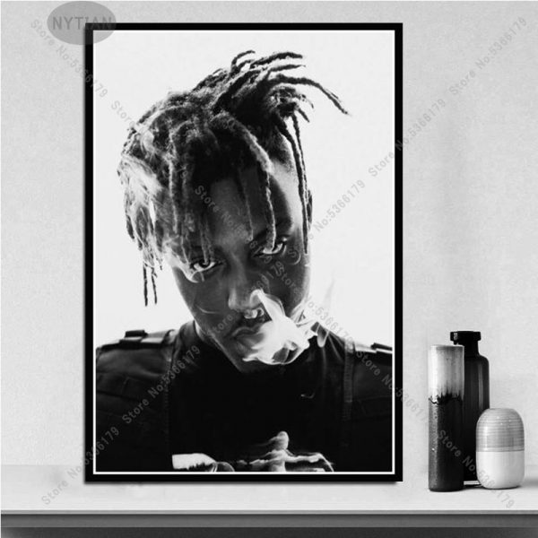 NT544 Painting R.I.P Juice WRLD Rapper Star Rap Music Singer Album Poster Prints Wall Art Canvas Picture Living Home Room Decor