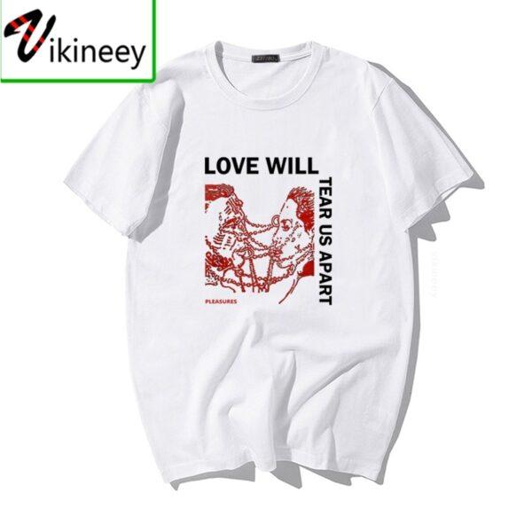 Hip Hop Lil Peep Love Will Tear Us Apart Punk T Shirt Men Oversized Tops Streetwear Summer Mens T-shirt Harajuku Letter Tee