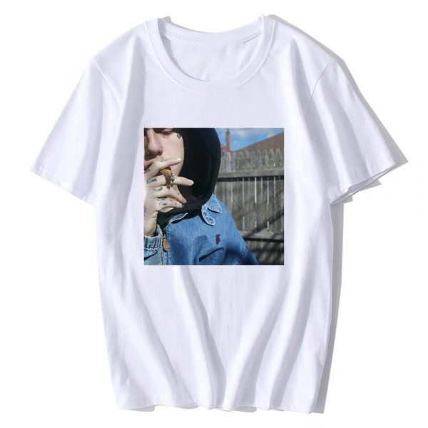 Rapper Lil Peep T Shirt Rap Emo Trap Hip Hop Lil Peep Cool T-shirt Graphic Print Harajuku Tshirt Men /Male Camisetas Hombre