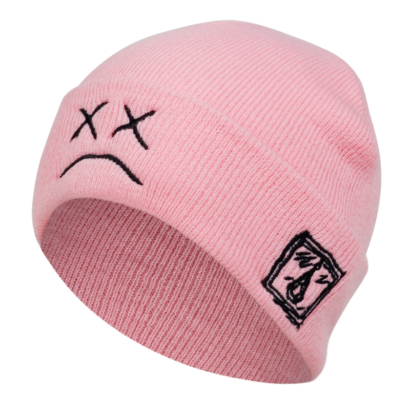 brand Lil Peep beanie cap xxxtentacion Sad boy face knitted hat for winter hip hop beanies fashion ski hats unisex