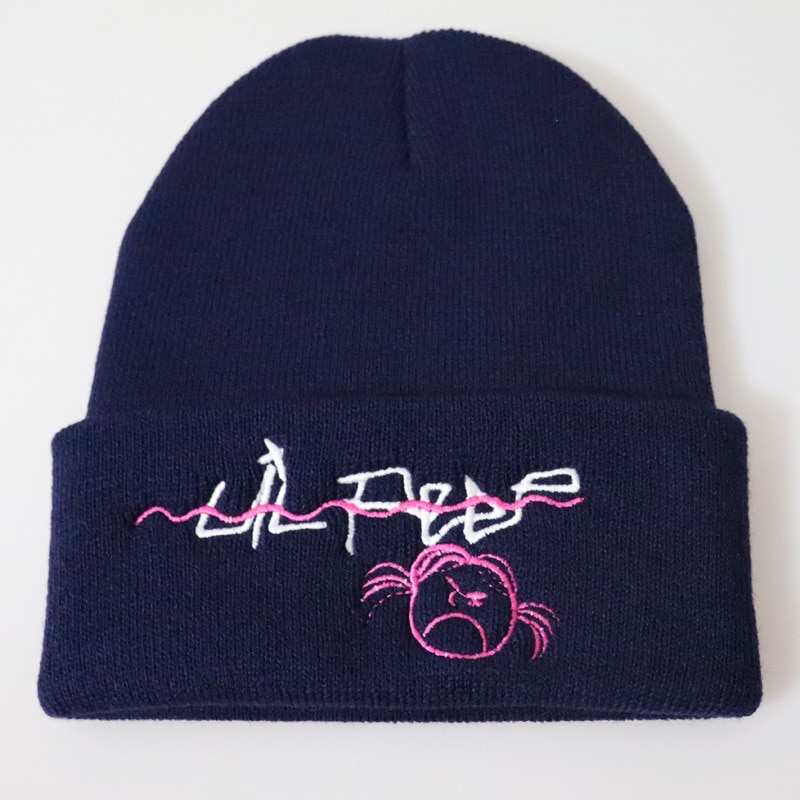 Lil Peep Beanie Embroidery Love men women Knit Cap Knitted Hat Skullies Warm Winter Unisex Ski Hip Hop Hat Sad girl Face