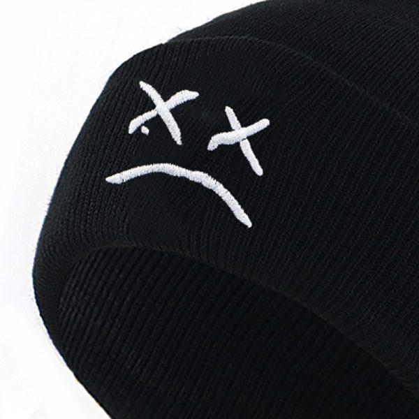 embroidery Lil Peep beanie cap xxxtentacion Sad boy face knitted hat for winter hip hop beanies fashion ski hats unisex