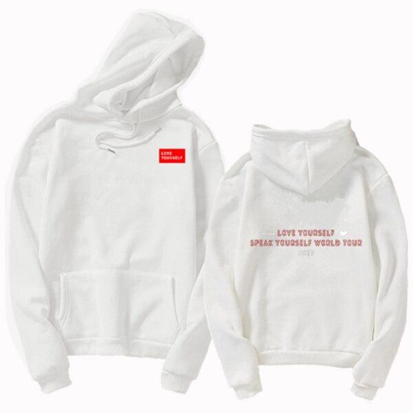 Bangtan Boys love yourself speak yourself world tour Hoodies & Sweatshirts Women's Clothing Round Neck K-pop hip hop Sweatshirt