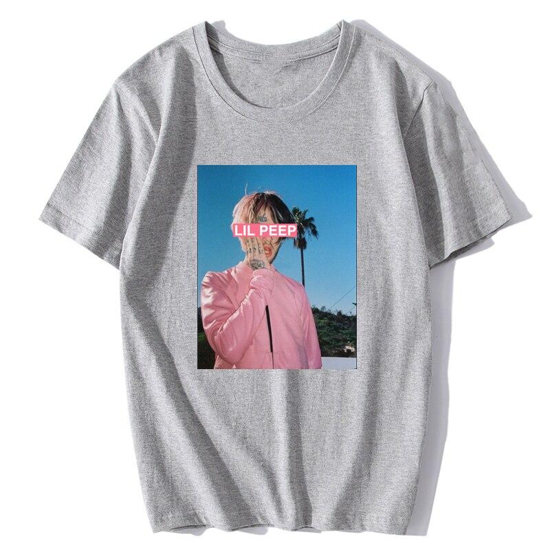 Hip Hop Man Lil Peep T Shirt Quality Comfortable Cotton T-Shirt Streetwear Hip Hop O-Neck Tees Tops Vintage Aesthetic Clothes