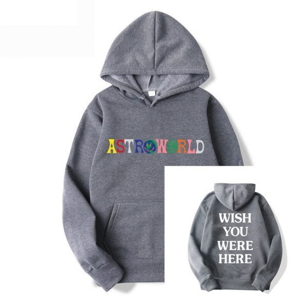 Travis Scott Astroworld Printed Hoodie I Went To Astro World Artist Music Hoodie Wish You Were Here Pullover Casual Sport Hoodie