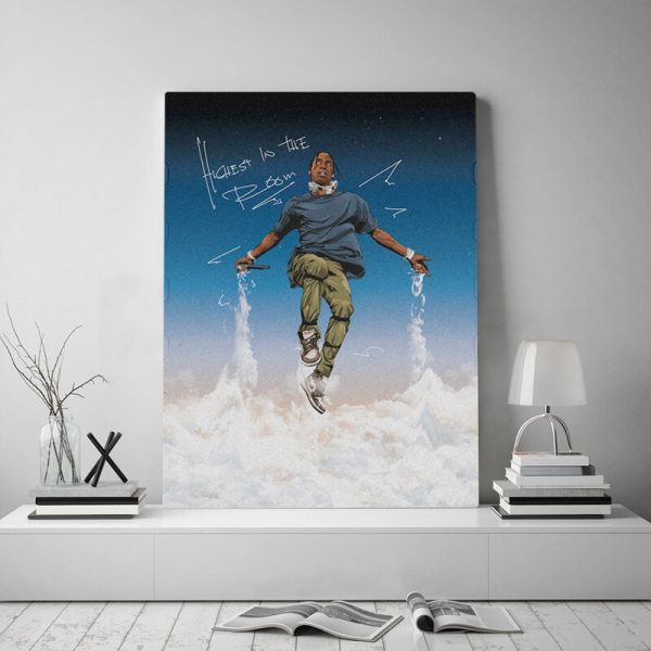 Travis Scott Poster Framed Canvas poster Wall Art Decor Living Room Study Home Decoration Prints wooden Wooden frame Painting