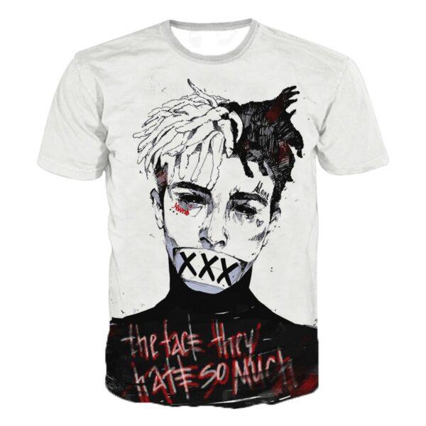 Rapper Lil Peep 3D Print Tshirt Men/women Hiphop Xxx Tentacion T-shirt Boy Cool O-neck T Shirt Man Summer Tops Clothes