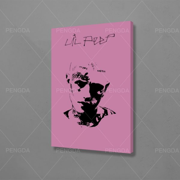 Canvas Wall Art HD Prints Lil Peep Home Decoration Rap Poster Sketch Pictures Popular Singer Paintings For Living Room Framework
