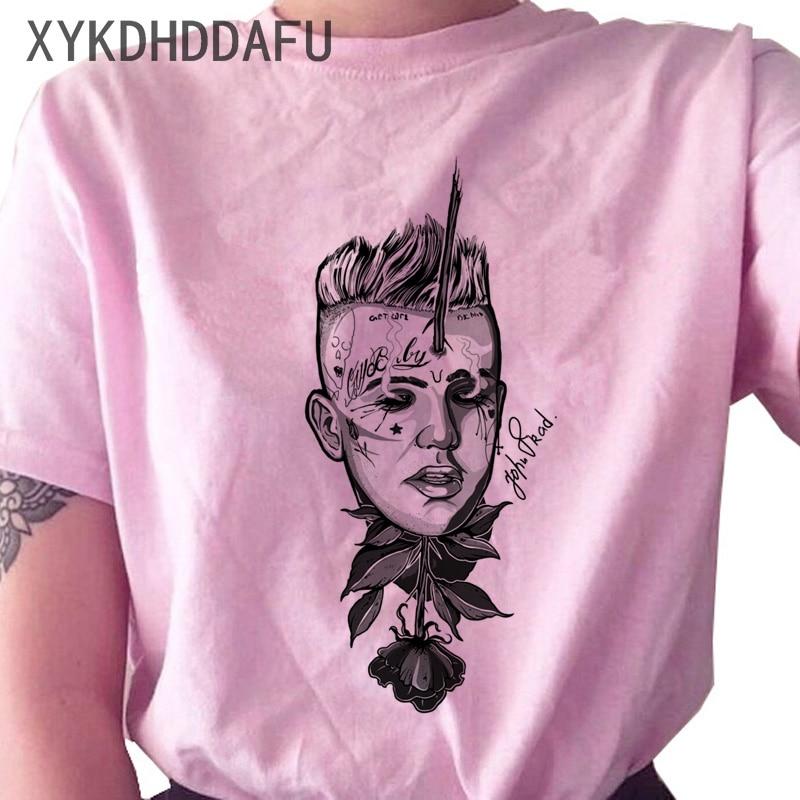 Lil Peep Women T Shirt New Fashion Hip Hop Ulzzang Streetwear Tshirt Clothing Print Cry Baby Vintage Female T-shirt Top Tees