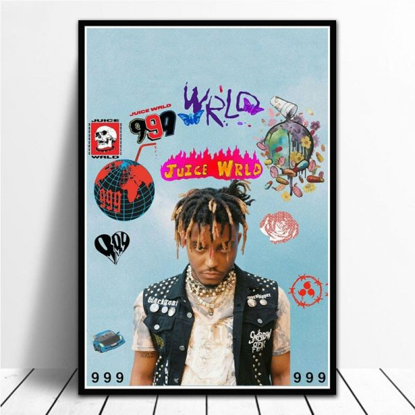 NT1118 Hot Juice WRLD Hip Hop Rapper Music Singer Star Poster Prints Wall Art Canvas Painting Picture Living Home Room Decor