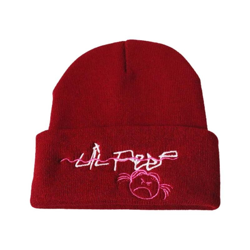 Love Lil Peep Tentacion Embroidered Hat Unisex Hip-hop Warm Knit Beanie Caps Top
