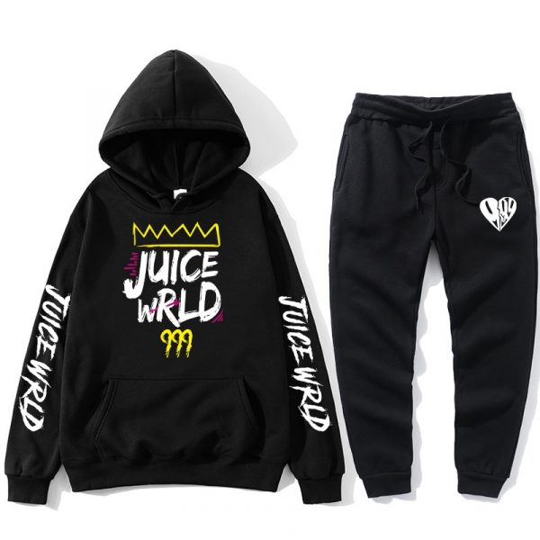 Hot sale J UICEWrld hoodie suit sweatshirt + pants juice wrld juice wrld juicewrld trap rap rainbow tomography juice world