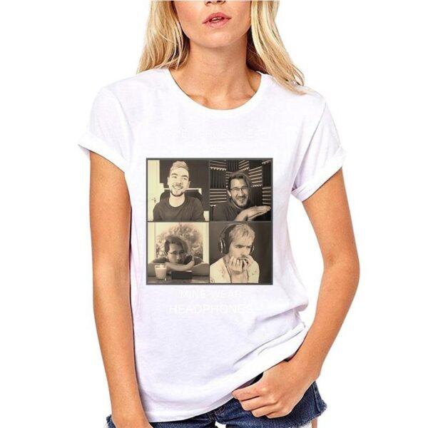 Adults Men New Markiplier And Jacksepticeye Heroes Black Funny T-shirt Novelty Tshirt Women T Shirt Streetwear Man Tee Shirt