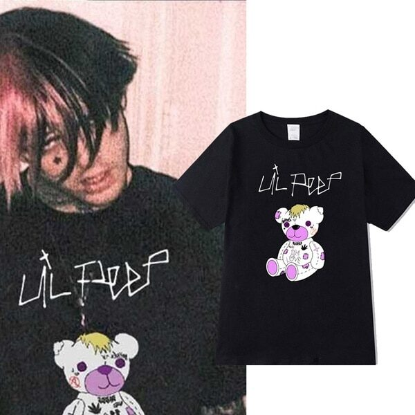 Lil Peep Tee Shirt Mens T-shirt Fashion Cool Summer T Shirt Graphic T-shirt