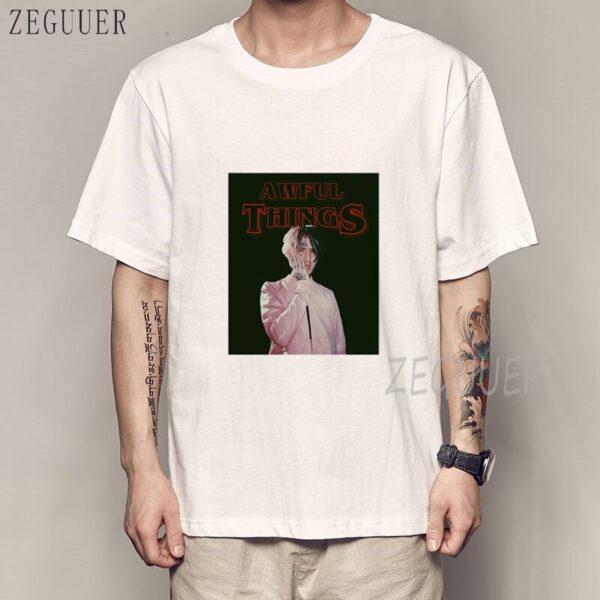LIL PEEP T SHIRT BLACK WHITE Print T-shirt Cool Xxxtentacion Tshirt Brand Shirts Print Colour Harajuku Men T Shirt Dropshipping