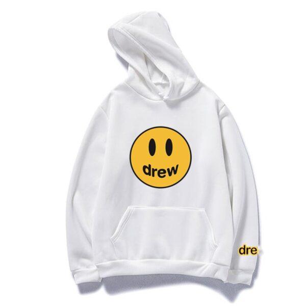 New Justin Bieber Drew Kawaii Hoodies Sweatshirt Women Men Hip Hop Hooded Hoody Pink Clothes Streetwear Sweatshirt Bluzy Damski