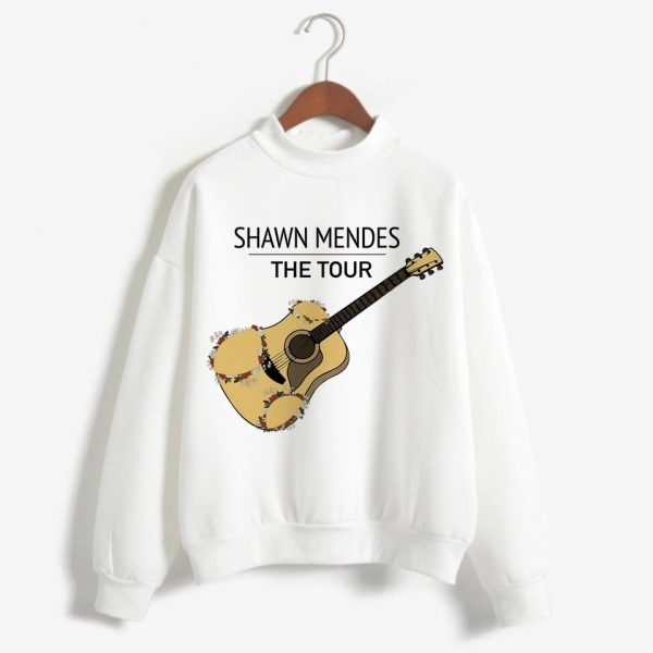 BTFCL Shawn Mendes Hoodie Sweatshirt Women Harajuku Print Streetwear Hoodies Cotton Fleece 90s Idols Pullovers Hoody Female