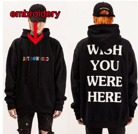 2020 New ASTROWORLD High Quality Cotton Embroidery Men Hoodies Fashion Street Clothing Hip Hop Sweatshirt Hoodies Women hoodie
