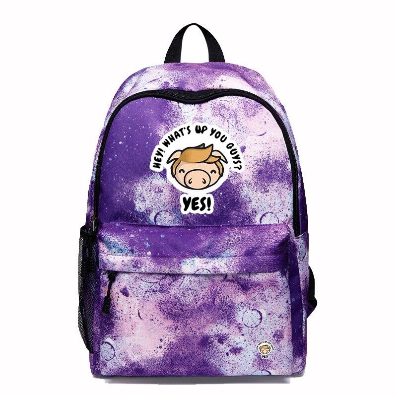 2020 Shane Dawson Harajuku School bags Unisex Fashion Novelty Pig Backpack Large Capacity Multi Pocket backpacks for teenagers