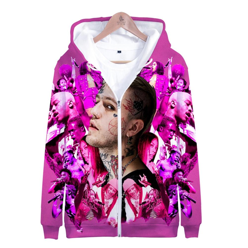 Lil Peep Jacket Zipper Men/Women 3D Hoodies Oversized Zipper Hoodie Harajuku Sweatshirt Streetwear Hot Sale Casual Jacket Men's