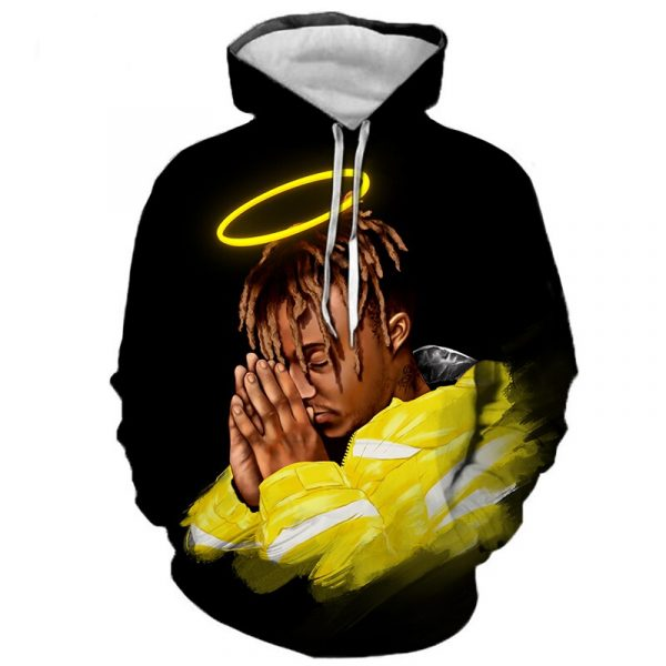 Juice Wrld 3D Print Hoodie Men Cool Juice Wrld 999 Hoody Sweatshirt Casual Fashion Hooded