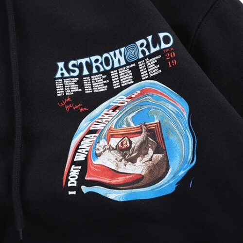 ASTROWORLD Hip Hop Mens Hoodies Stranger Things Loose Casual Black Hooded Hoodie Streetwear Xxxtentacion Couple Hoody