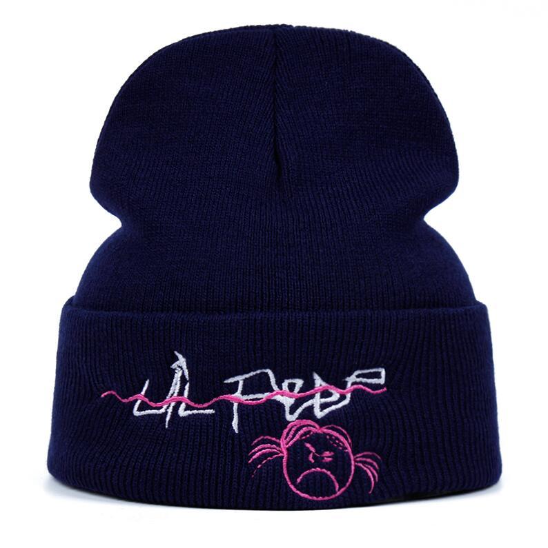Lil Peep Beanie Embroidery xxxtentacion Love lil.peep men women Knit Cap Knitted Hat Skullies Warm Winter Unisex Ski Hip Hop Hat
