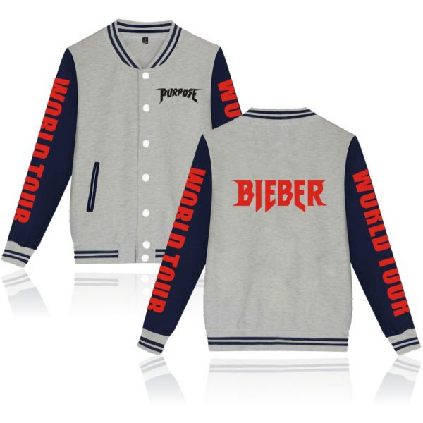 Justin Bieber Jacket New Style pop star Baseball Jacket coat Kpop sweatshirts hoodies Uniform women/men plus size clothes 4XL