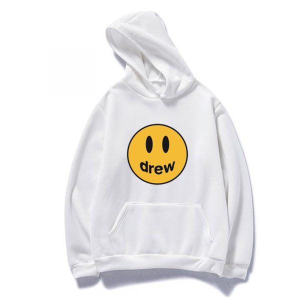 New Justin Bieber Drew Kawaii Hoodies Sweatshirt Women Men Hip Hop Hooded Hoody Pink Clothes Streetwear Sweatshirt Bluzy Damski