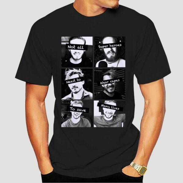 New Markiplier and Jacksepticeye Heroes T-Shirts Size white Cartoon t shirt men Unisex New Fashion tshirt