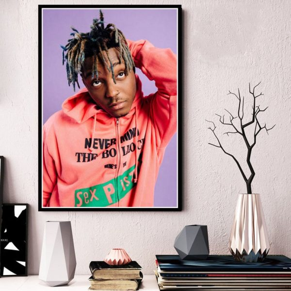 Music Rapper Singer Star New Juice WRLD Quality Canvas Painting Poster Art Home Decor Room Living Sofa Wall Decor Picture A1063