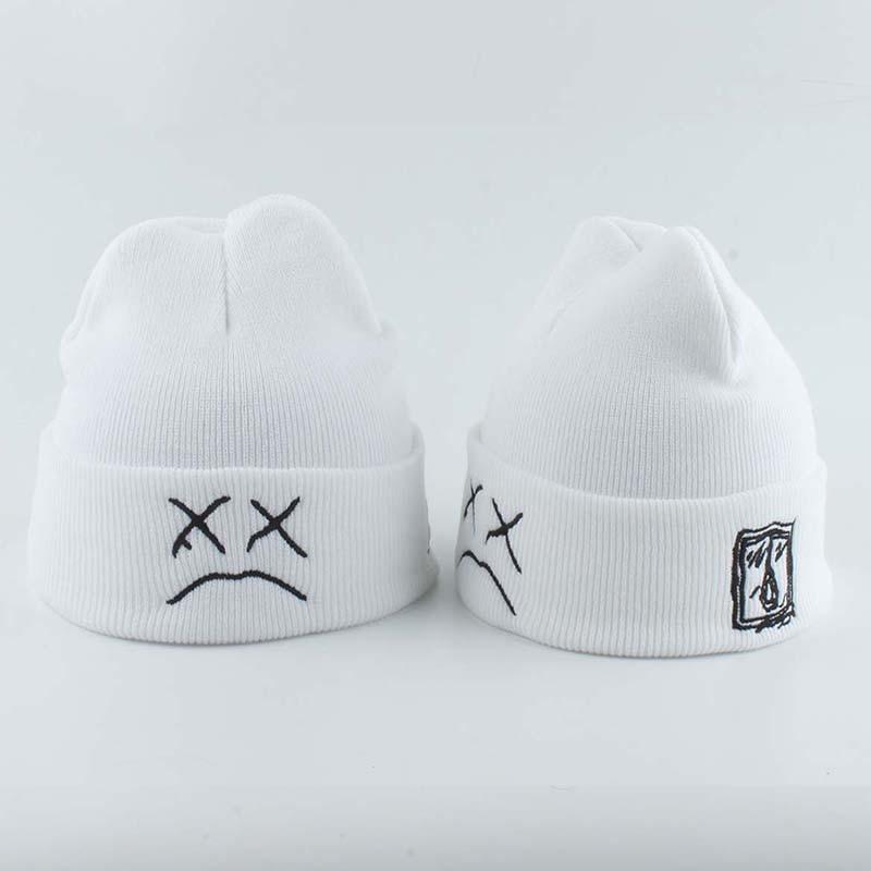 Lil Peep White Black Beanie Embroidery xxxtentacion Love Men Women Autumn Winter Knitted Hat Skullies Warm Hip Hop Ski Cap