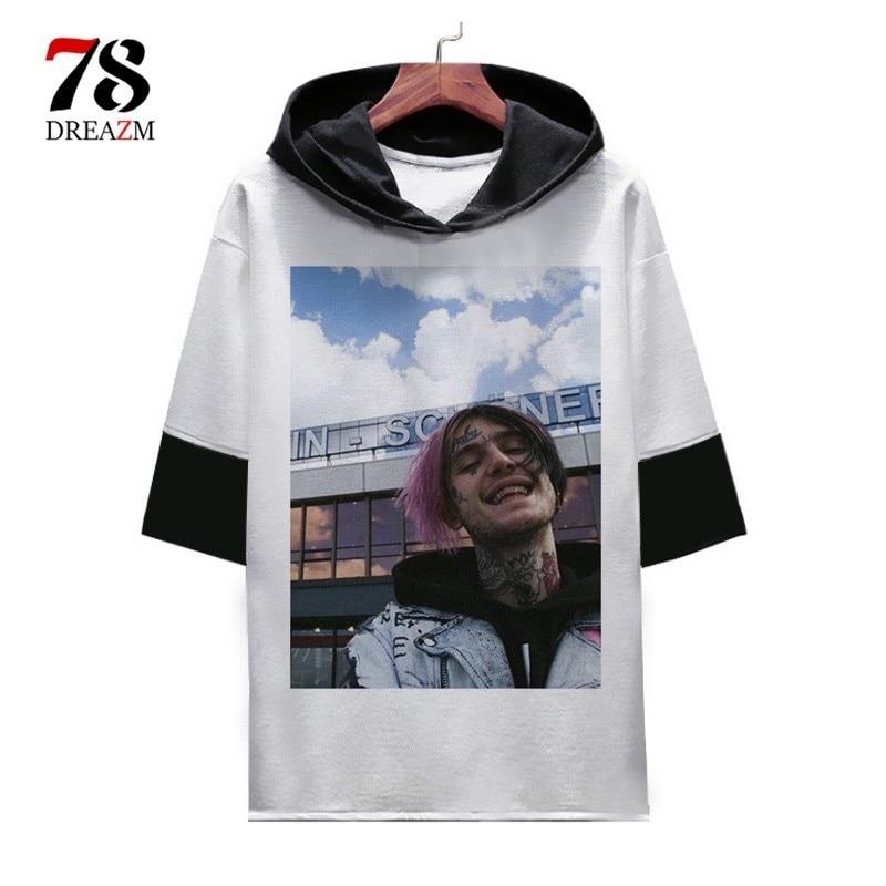 Lil Peep T Shirt men Hip hop tshirt Cool Rapper t-shirt hellboy tshirt male/women Rap Graphic top tee shirts fashion oversized