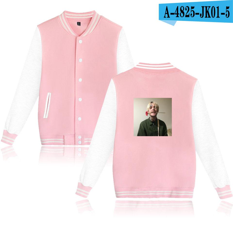 LUCKYFRIDAYF 2018 Lil Peep baseball Jackets Winter jacket women Men bomber Jacket Coat College Streetwear sweatshirt streetwear