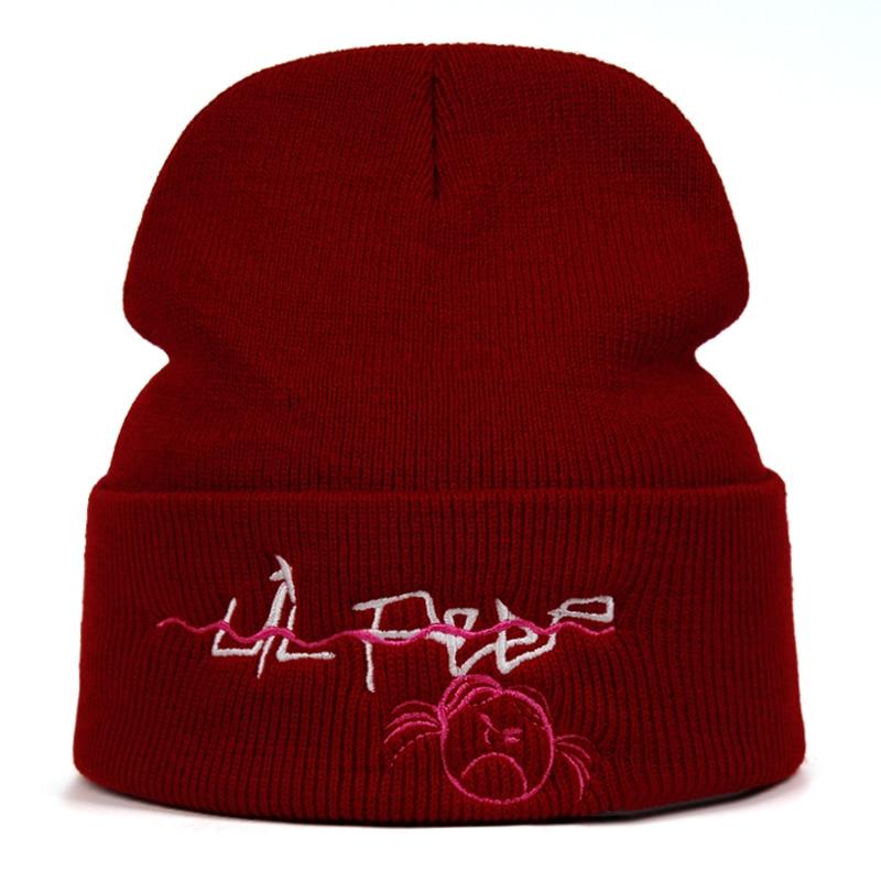 Lil Peep Beanie Embroidery Knitted Hat xxxtentacion lil.peep Love men women Knit Cap Skullies Warm Winter Unisex Ski Hip Hop Hat