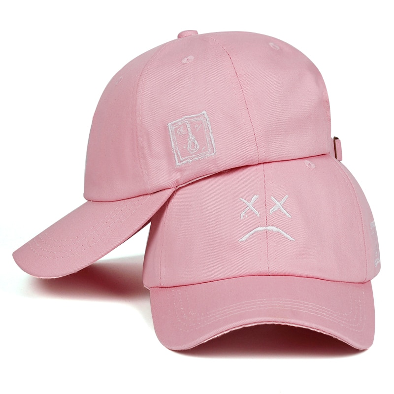Lil Peep Dad Hat Embroidery 100% Cotton Baseball Cap Sad face Hat xxxtentacion Hip Hop Cap Golf Love lil.peep Snapback Women Men