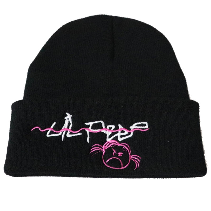 Casual Love Lil Peep Beanies Embroidery Warm Soft Knitted Hat Hip-Hop Bonnet Unisex