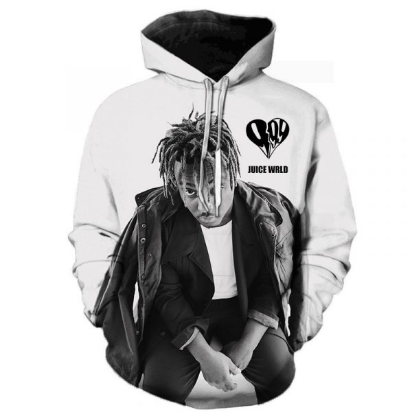 Rapper Juice Wrld 3D Printed Hoodie Sweatshirts Men Women 2020 Fashion Casual Pullover Hip Hop Streetwear Oversized Hoodies
