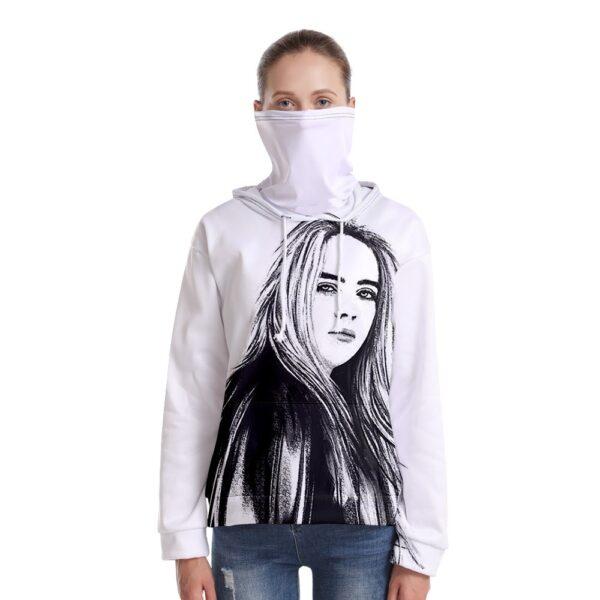 Billie Hoodies Women/men Hoodies Casual Loose Drawstring Sweatshirt Long Sleeve Hooded Autumn Academia Hoodie Pullover+Scarf Set