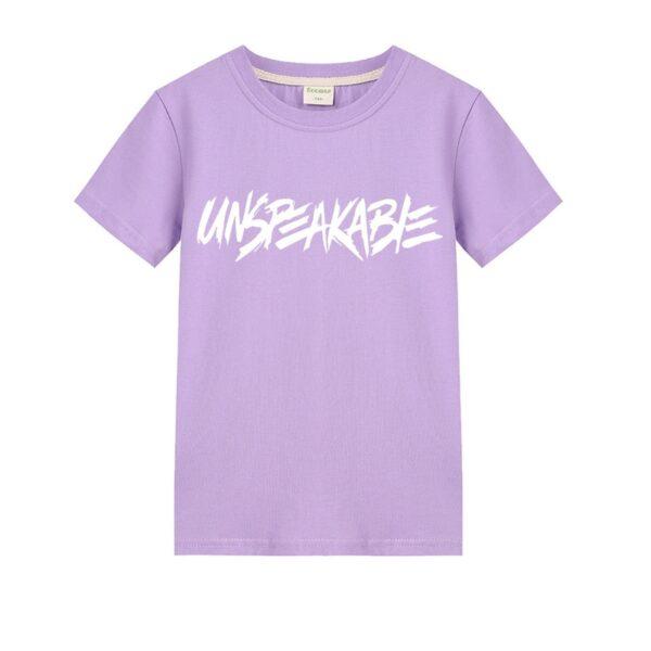 2019 Summer children's cartoon UNSPEAKABLE Prestonplayz boys and girls cotton short-sleeved T-shirt children's clothing 6-14Y