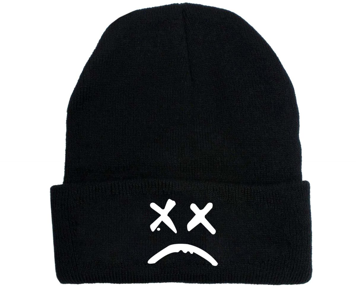Lil Peep New Style Knitted Hat Autumn and Winter Women's Korean-Style Hat All-match Elastic Snap-Brim Hat Foreign Trade