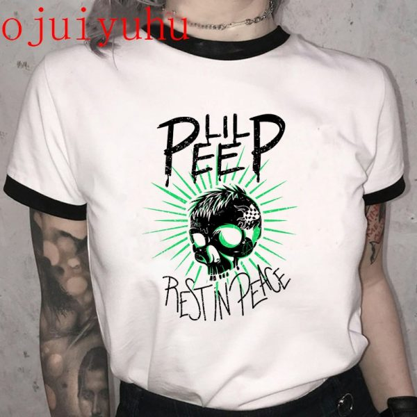 Hip Hop Rip Lil Peep T Shirt Rapper Harajuku Summer Casual Graphic T-shirt Fashion Aesthetic Cool Tshirt Short Sleeve Top Tees