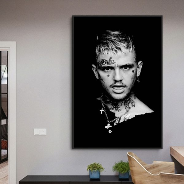 Lil Peep Music Rapper Poster Print Canvas Painting Modern Art Wall Picture For Living Room Bedroom Decoration Paintings No Frame