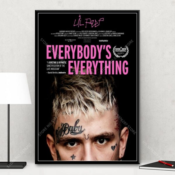 G607 Art Decor Everybody's Everything Lil Peep Music Movie Hip Hop Rap Star Rapper Wall Art Canvas Painting Silk Poster