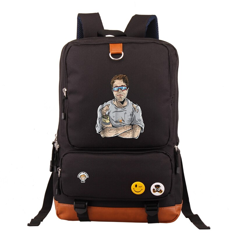 Fashion Cool Style Shane Dawson Print Canvas Casual Funnny Pig student School Backpack Men Shoulder Backpack for teens