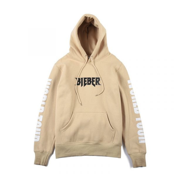 100% cotton Hoodies Justin Bieber Purpose Tour Print Hoodie Men Hip hop Streetwear Fleece Pullover Men Women Fashion Sweatshirt
