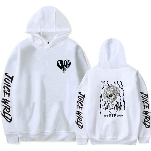 New print Juice WRLD Hoodies Men Women Sweatshirts Hooded Hip Hop Fashion Casual Hoodie Juice WRLD boys girls white pullovers