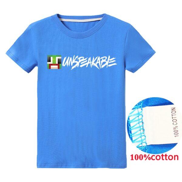 Baby Girl Summer Clothes Boys Cartoon T Shirts Kids Short Sleeve Alan Walker Tops T-shirt Tees UNSPEAKABLE