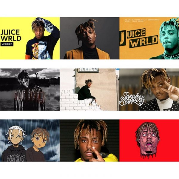 Juice Wrld Rapper Hip Hop Rapper Poster Painting Wall Artwork Modern Picture Poster Modular For Living RoomHome Decor